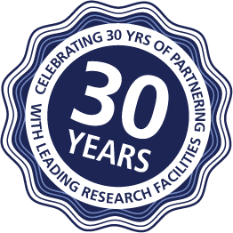 Celebrating 30 years of partnering with leading research facilities
